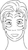массажные линии лица для дарсонвализации